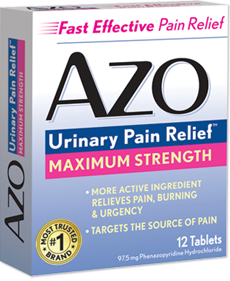 AZO Urinary Pain Relief.